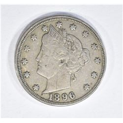 "1896 LIBERTY ""V"" NICKEL VF/XF"
