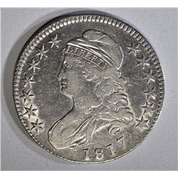 1817 BUST HALF DOLLAR XF, REV. PROBLEMS