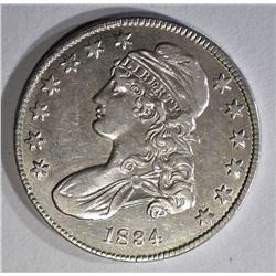 1834 BUST HALF DOLLAR AU