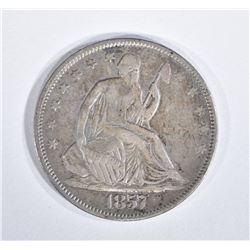 1857 SEATED LIBERTY HALF XF