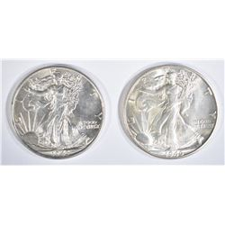 1943 & 46-D WALKING LIBERTY HALVES BU