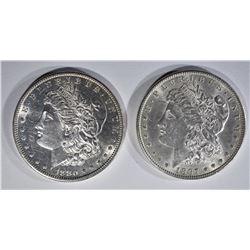 1880-S & 1897 MORGAN DOLLARS CH BU