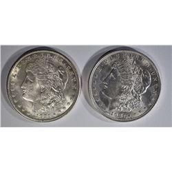 1921-P,S MORGAN DOLLARS CH BU