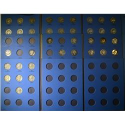 69 DIFFERENT CIRC WASHINGTON QUARTERS IN FOLDERS