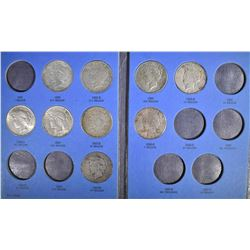 PARTIAL PEACE DOLLAR, SET: 12 COINS HAS AU 1934
