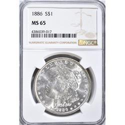 1886 MORGAN DOLLAR NGC MS 65