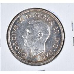 1938 CANADA SILVER .50 CENTS  CH.BU