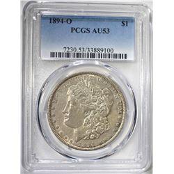1894-O MORGAN DOLLAR PCGS AU53
