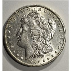 1901-S MORGAN DOLLAR AU/BU