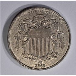 1868 SHIELD NICKEL  BU