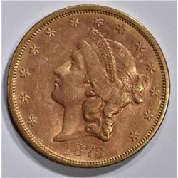 1873-S $20 GOLD LIBERTY CLOSED 3  BU