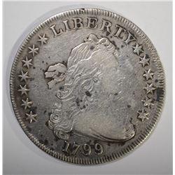 1799 BUST DOLLAR VF SPOTS