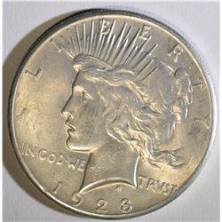 1928 PEACE DOLLAR  BU