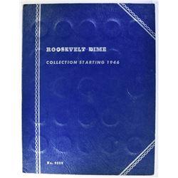 1946-64 CIRC ROOSEVELT DIME SET IN FOLDER