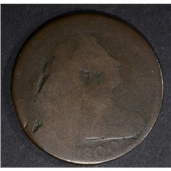 1800 DRAPED BUST LARGE CENT AG
