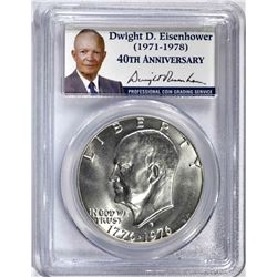 1976-S SILVER EISENHOWER DOLLAR, PCGS MS-68 SUPER