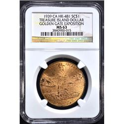 1939 CA HK-481 SO CALLED DOLLAR NGC