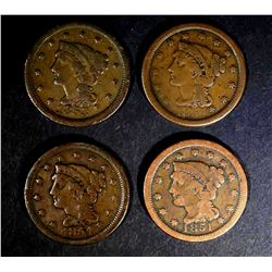 1851 VG, 53 FINE & 2-54 F/VF LARGE CENTS
