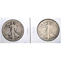 WALKING LIBERTY HALF DOLLARS: