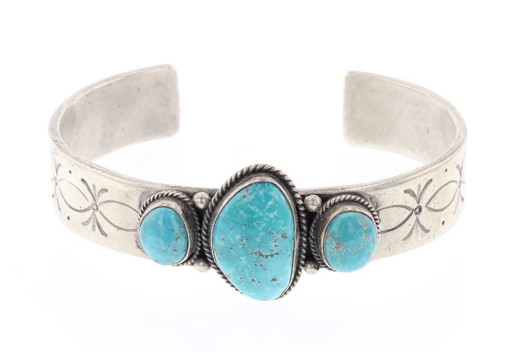 5a075cf65e3 Image 1 : Nila Cook Johnson Vintage Kingman Turquoise Cuff Bracelet ...