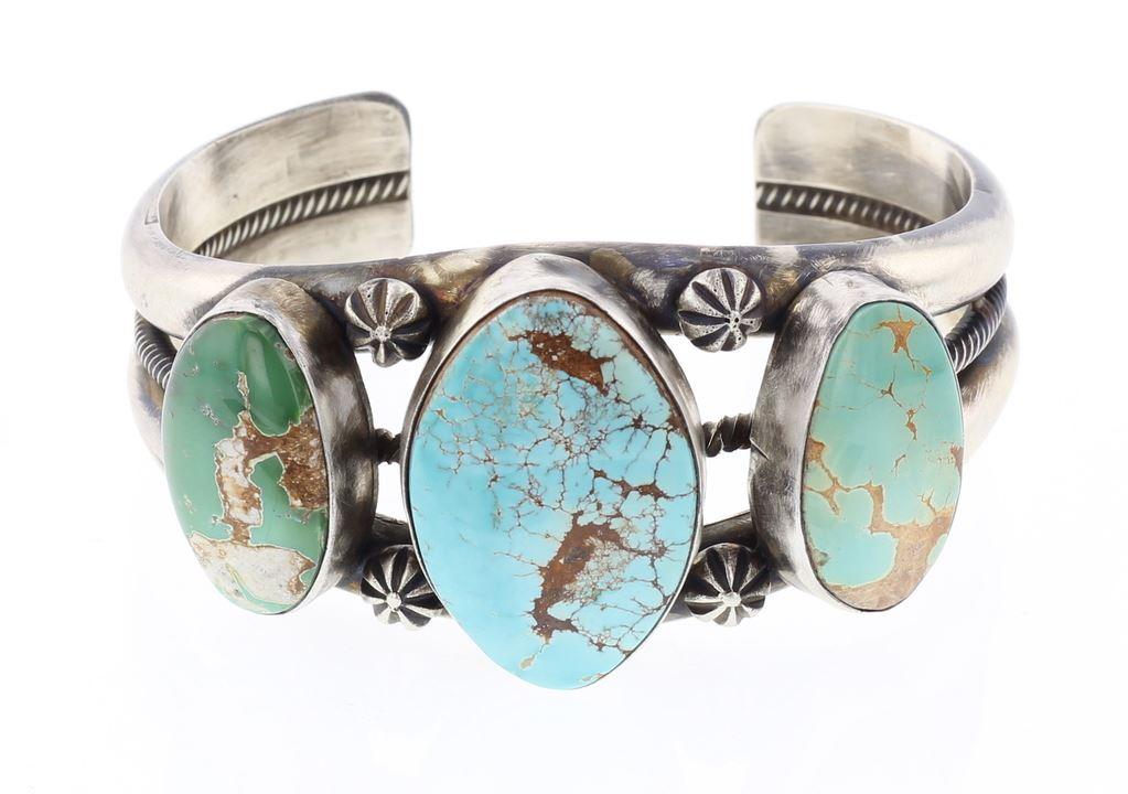 877e1cf1b2a Image 1 : Paul Livingston Kingman Turquoise Cuff Bracelet ...