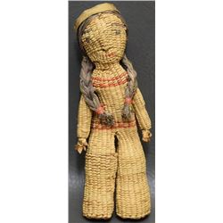 QUINAULT INDIAN BASKETRY DOLL