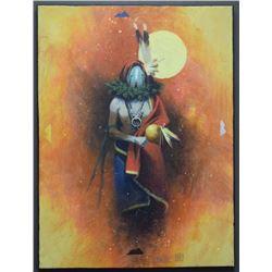 NAVAJO INDIAN PAINTING (BAHE)