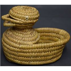 PAPAGO INDIAN BASKETRY DUCK