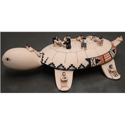 COCHITI INDIAN POTTERY TURTLE ( SUINA)