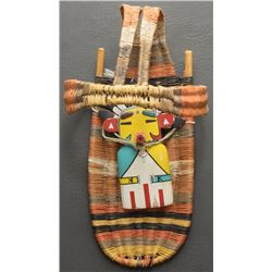 HOPI INDIAN DOLL AND CRADLE