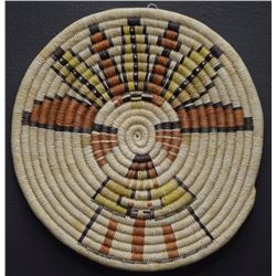 HOPI INDIAN BASKETRY PLAQUE (FRED)