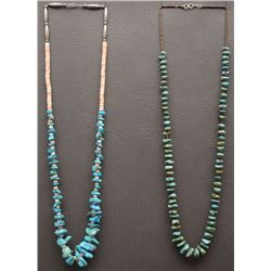 TWO SANTO DOMINGO INDIAN NECKLACES