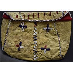 APACHE INDIAN BEADED BLADDER BAG