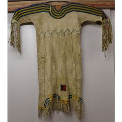 BLACKFOOT INDIAN HIDE DRESS