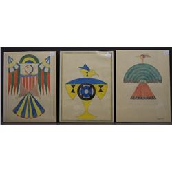THREE NAVAJO INDIAN SKETCHES