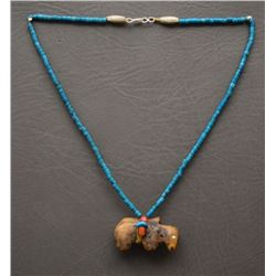 CHOCTAW INDIAN NECKLACE (ROBERT KANIATOBE)