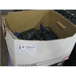 BOX OF RANDOM VGA & POWER CABLES