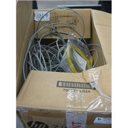 Box Lot Green/Yelow/White/Grey RJ45 CAT 5 and 6 Patch cables Various Lenghts