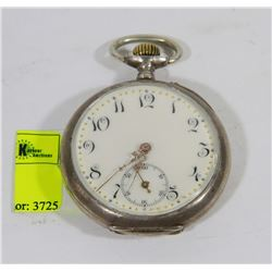 1800'S ENAMELS DUAL MAN'S POCKET WATCH- WORKING