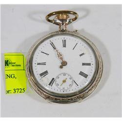 1800'S POCKET WATCH, WORKING, NEEDS HAND
