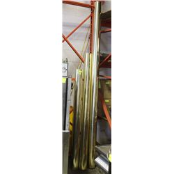 BRASS FINISHED DECOR POSTS 3 PIECES