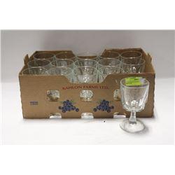 BOX OF 15 WINE GLASSES