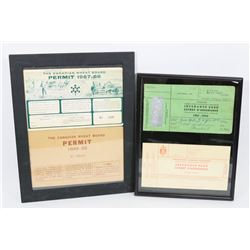 CANADIAN WHEAT PERMITS 1949  1967 AND