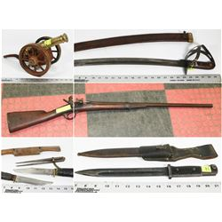 FEATURED LOTS: CANNON, WEAPONS & SWORDS