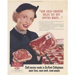 1950's Du Pont Cellophane Saturday Evening Post Ad