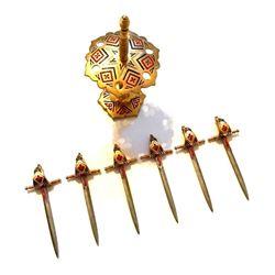 Vintage Brass Toledo Hors d'oeuvre Sword Toothpicks