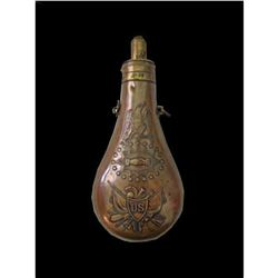 Rare Museum 1850 Peace Powder Flask
