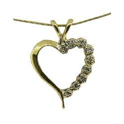 14kt Gold & Diamond Heart Pendant