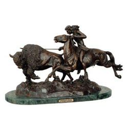 Buffalo Hunt By Frederic Remington