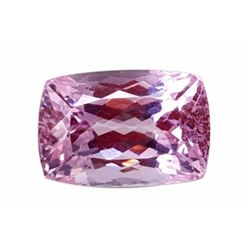 Huge 43ct Certified Natural Pink Cushion Cut Brazilian Kunzite Gemstone